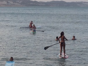 Paddle boarding! I'm in there somewhere, but this is mostly people I don't know