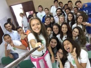 Entire class selfie.