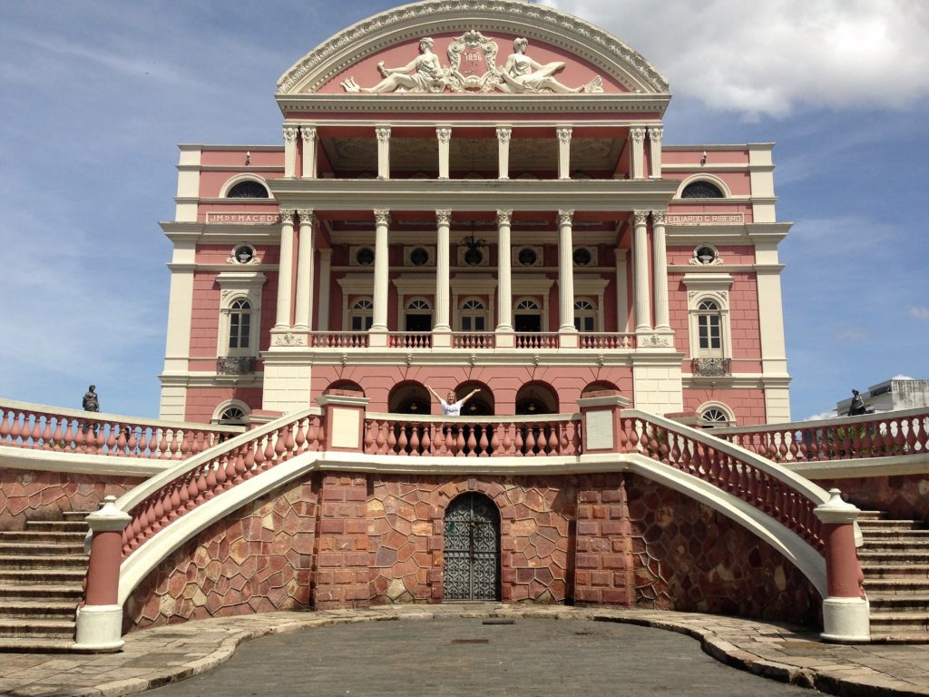 The theater/opera house of Manaus