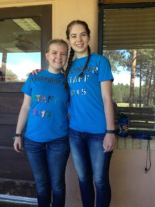 "Courtney and Claire: dubbed the ""Crunch Twin Counselors"""