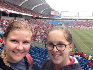 A day where I was very happy. Chiara and I went to a soccer game because we needed something to do.
